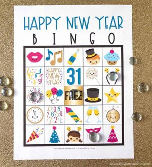Happy New Years Printable Bingo Cards