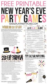 New Years Eve Party Games Printable