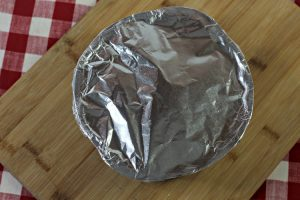 Pan covered with foil