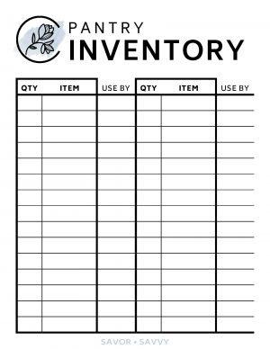 Free Printable Pantry Inventory