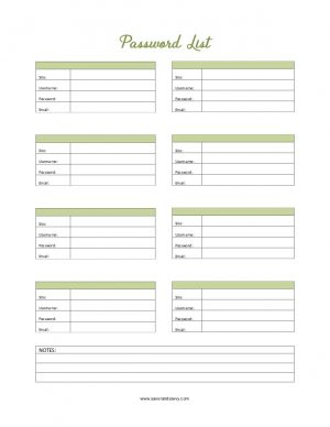 Password list printable