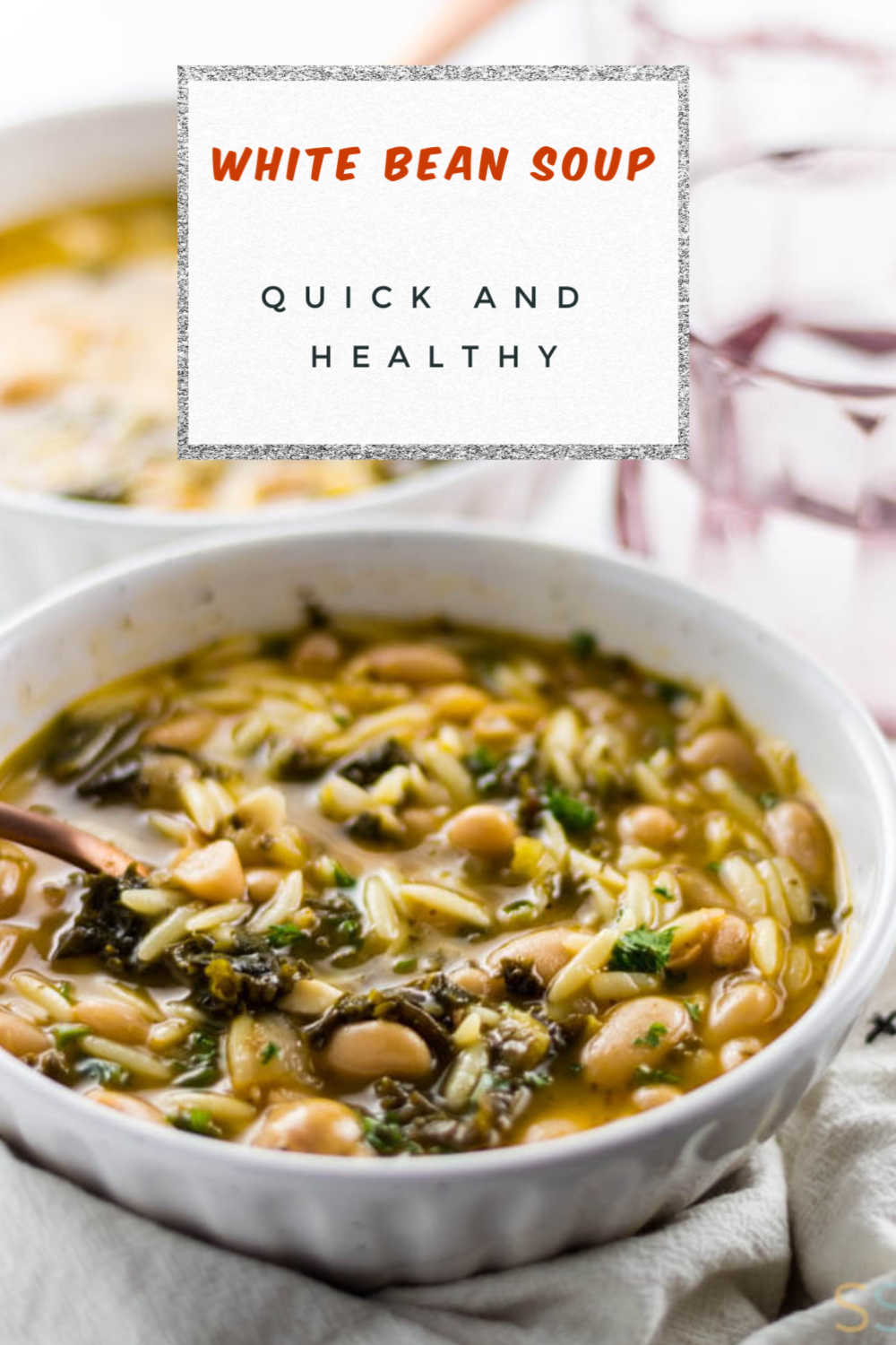 Vegetarian White Bean Soup {Ninja Foodi + Instant Pot Options}