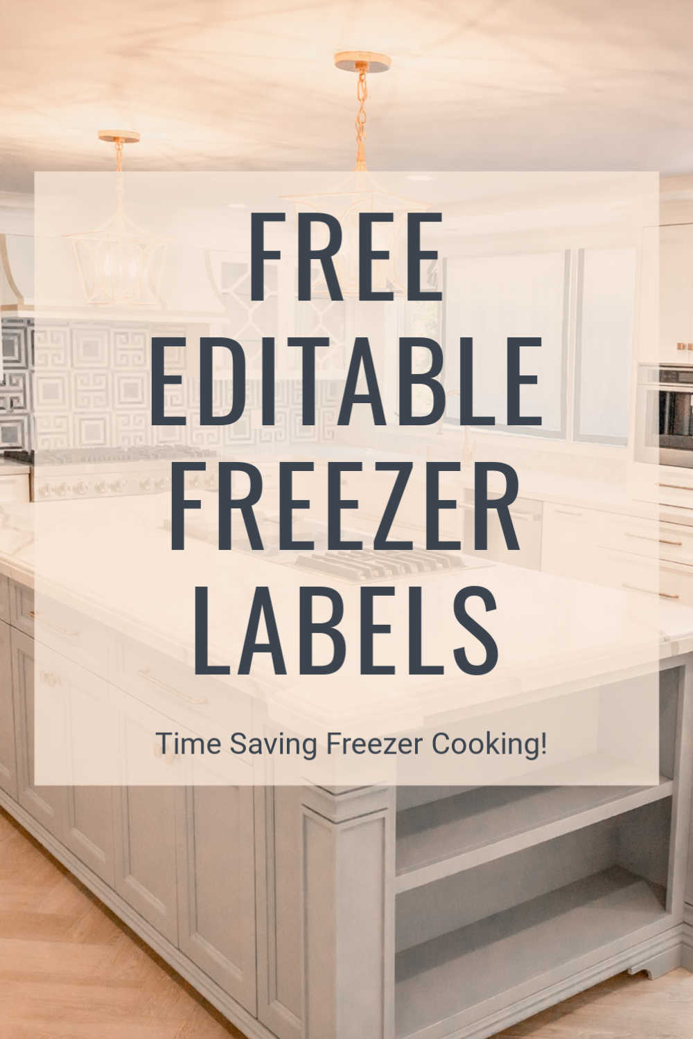 Free editable Freezer labels to help your meal prep! Use moisture resistant labels and print the instructions for your freezer meal efforts. Never lose track of what you are making! #FreezerCooking #MealPrep #EditableLabels