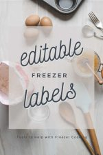 Kitchen Utensils and a text overlay with editable freezer labels
