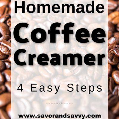 How to Make Homemade Caramel Coffee Creamer {3 WW Points using 2% Milk}