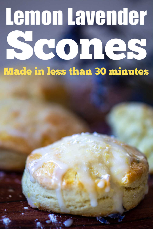 Sweet and Simple Lemon Lavender Scones {Under 20 Minutes}