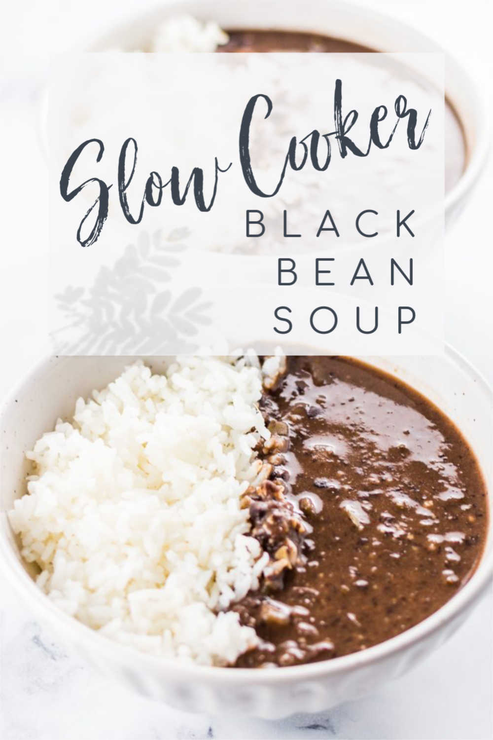 Vegetarian Crockpot Black Bean Soup {5 Minute Prep}