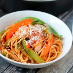 Spaghetti with Peppers and Onions - A Deliciously Easy Spaghetti Recipe