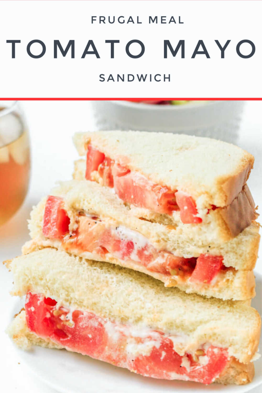 Tomato Mayo Sandwich - Frugal Meal Idea {6 WW Points}