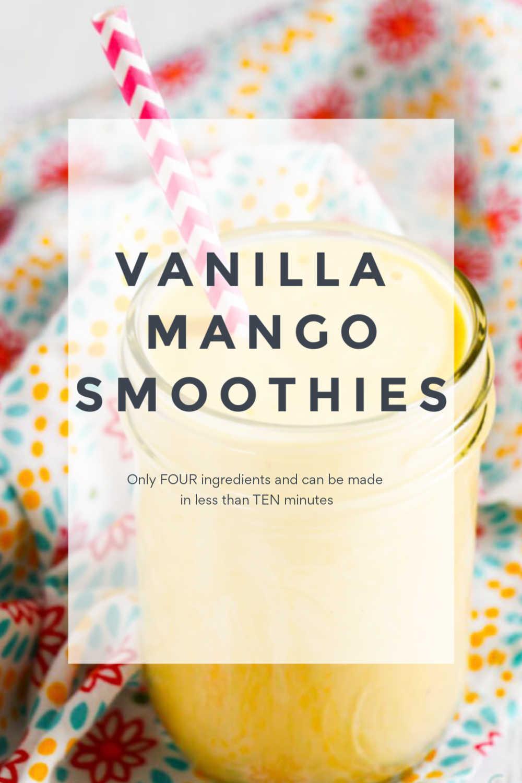 Low Cal Vanilla Mango Smoothie Recipe {10 Minutes}