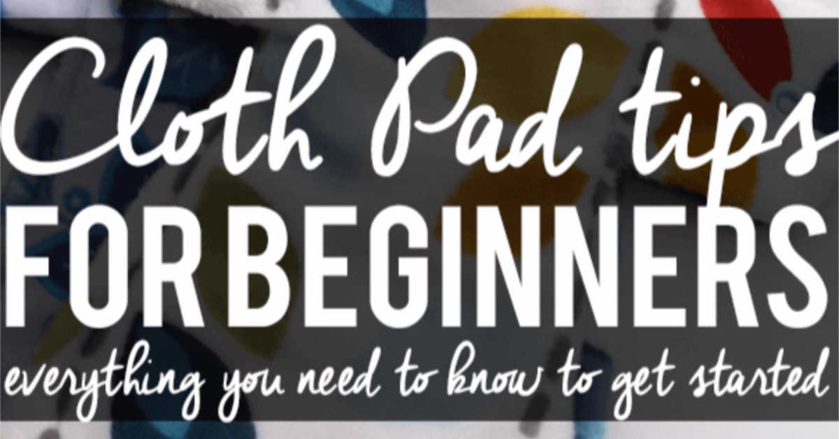Cloth Pads for beginners. Alternative feminine hygiene products for menstruation