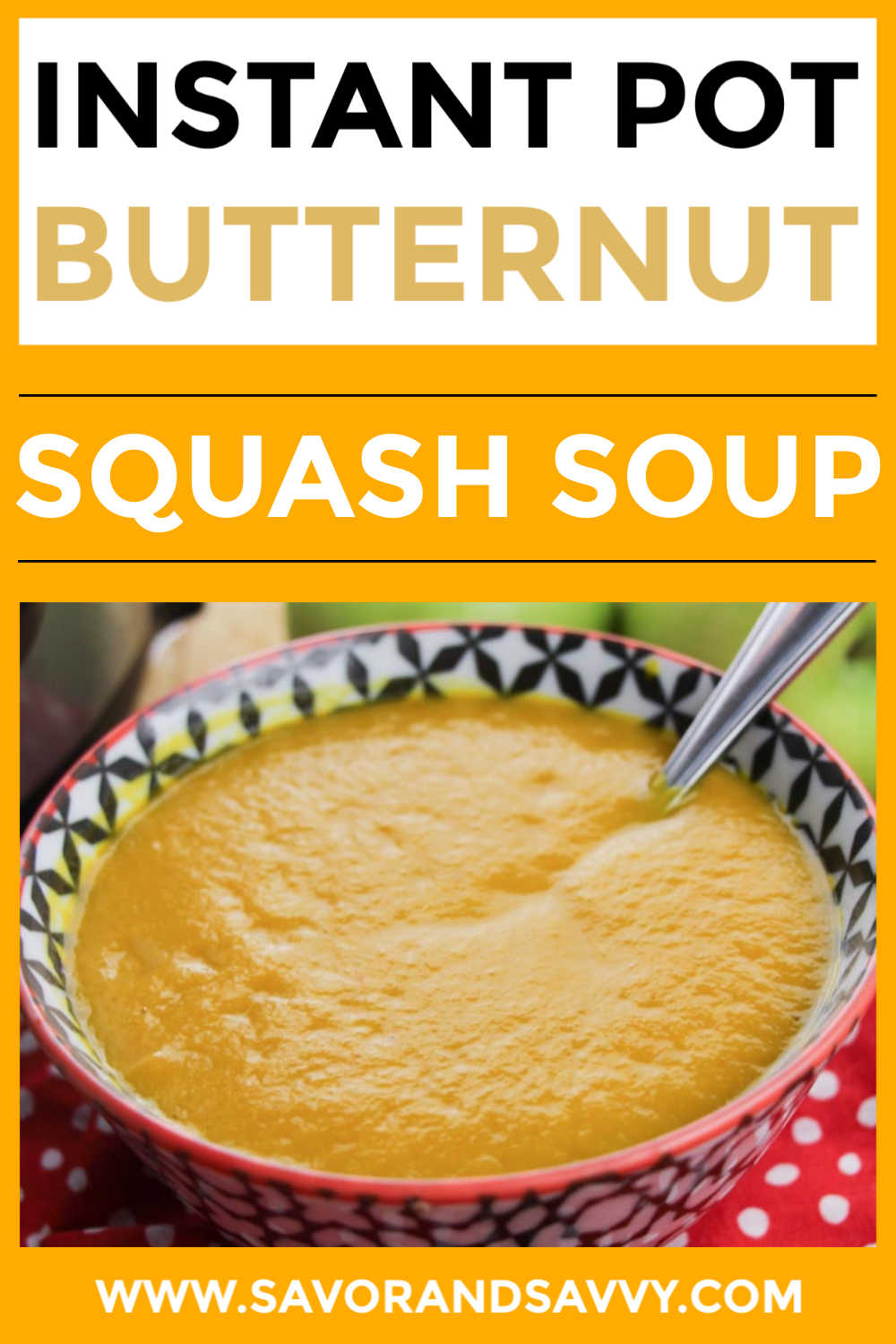 Easy and Fast Instant Pot Butternut Squash Soup