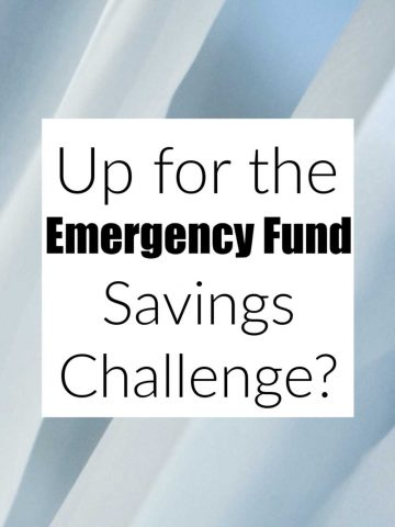 text box that reads are you up for the emergency fund savings challenge?