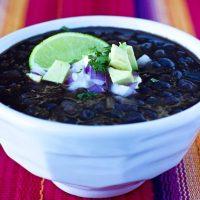Restaurant-Style Black Bean Soup Recipe #SouperJanuary