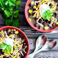 Black Bean and Salsa Soup -