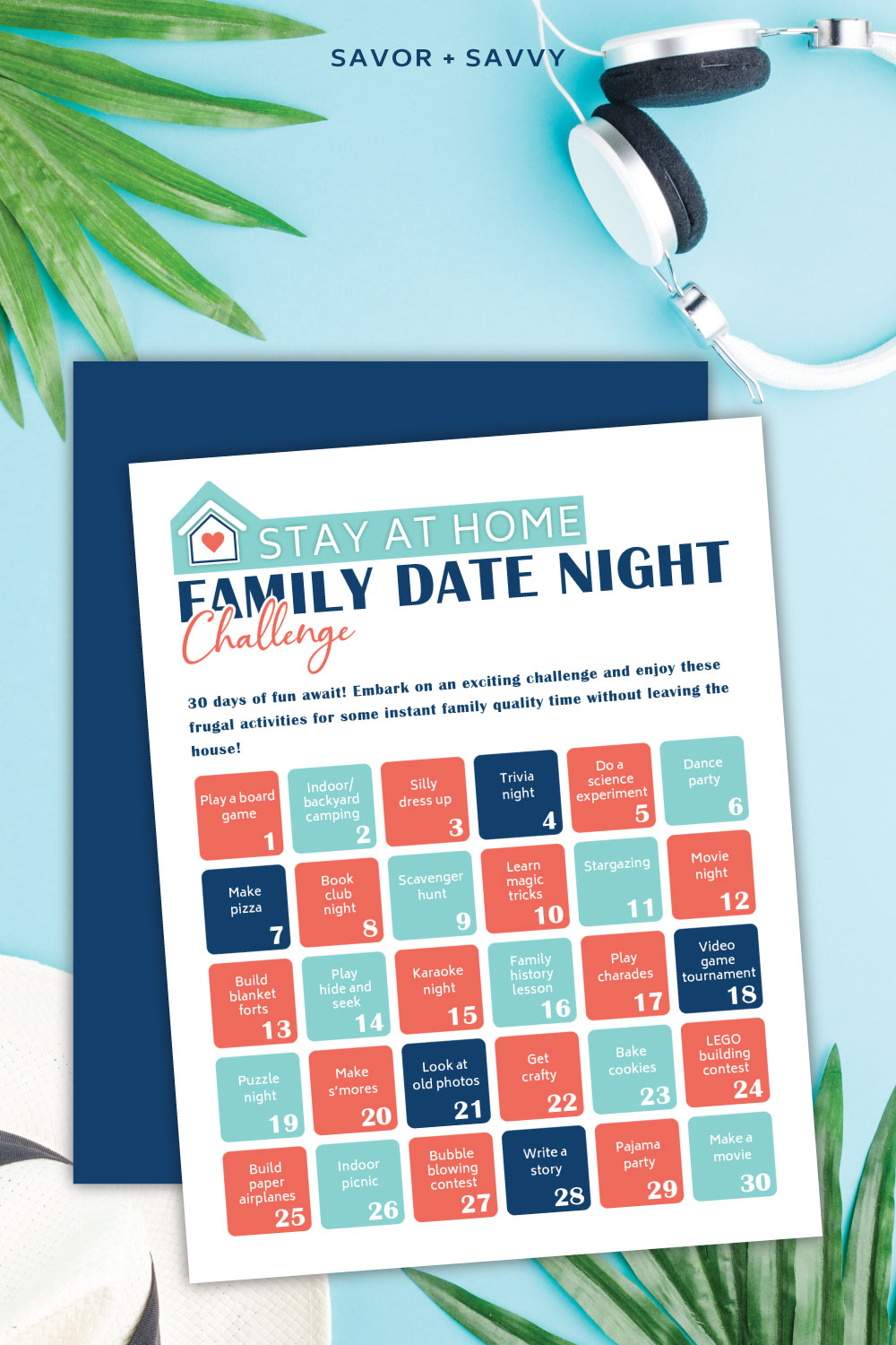 Frugal Fun - 30 Day Family Date Night Printable