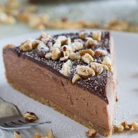 No-Bake Nutella Cheesecake - Taste and Tell