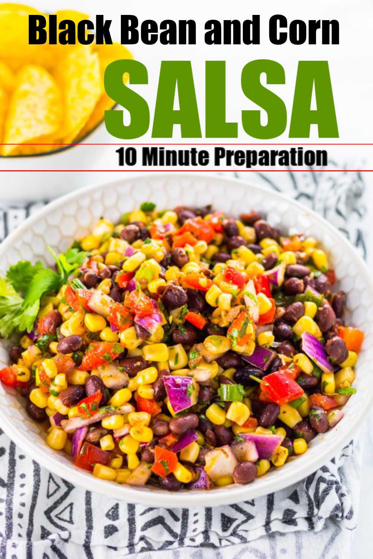 Black Bean and Corn Salsa {10 Minutes}