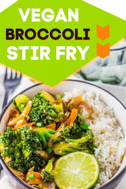 How to Make 10 Minute Garlic Broccoli Stir Fry Recipe (With Video) {WW 4 Points, Vegetarian, Vegan}