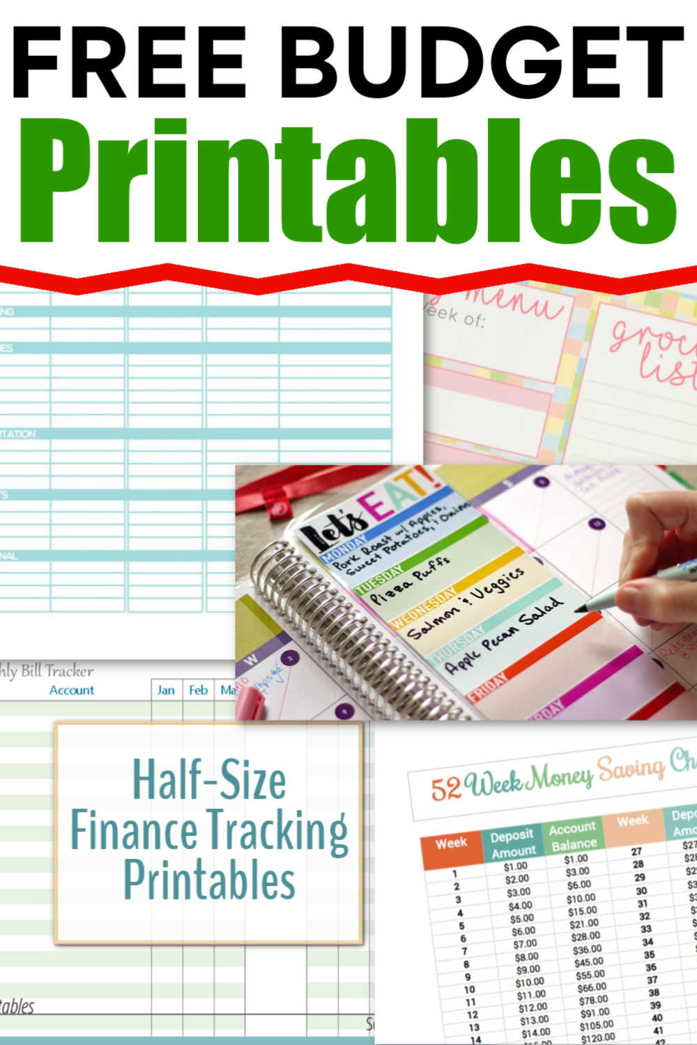20 Free Budget Printables to Help Control Your Home Finances
