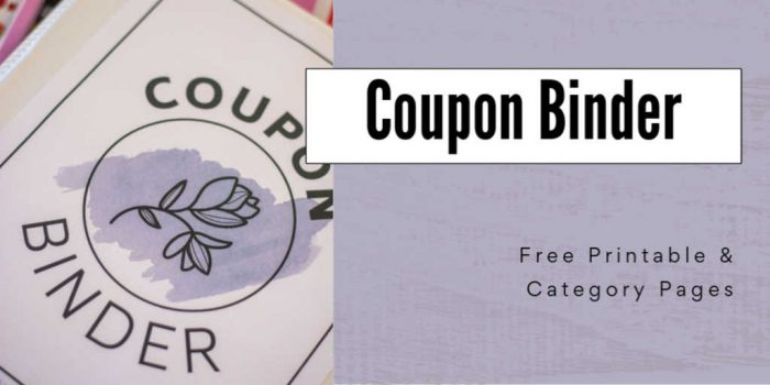 cover insert in the coupon binder three ring and text