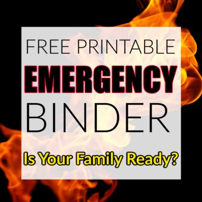 Family Emergency Binder – FREE Printables for a Crisis