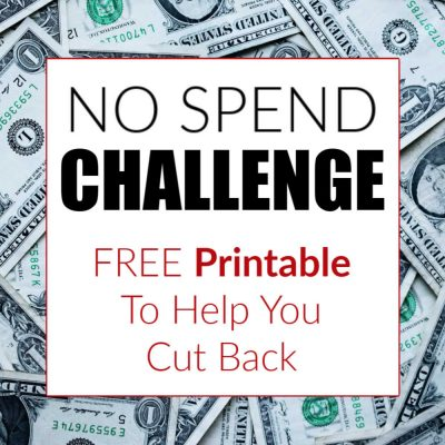 No Spend Challenge and FREE Printable – Rock Your Goals!