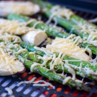 After a minute, the parmesan on this asparagus will melt