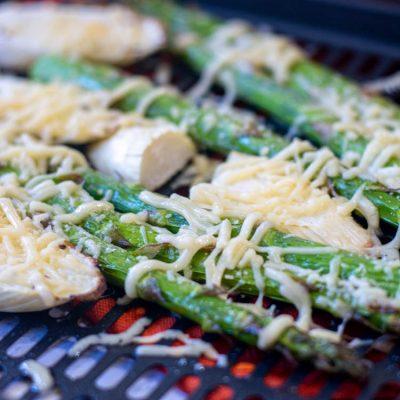 Cheesy Roasted Air Fryer Asparagus