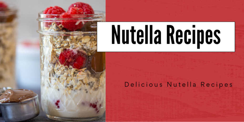 jar of nutella overnight oats and text for one of many breakfasts featuring this delicious treat
