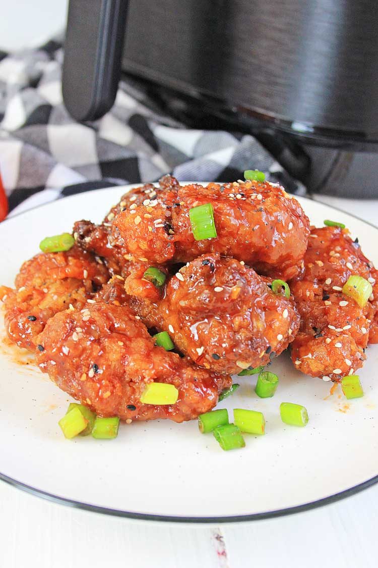 Air Fryer Sweet Asian Chili Chicken Wings Game Day Savor Savvy