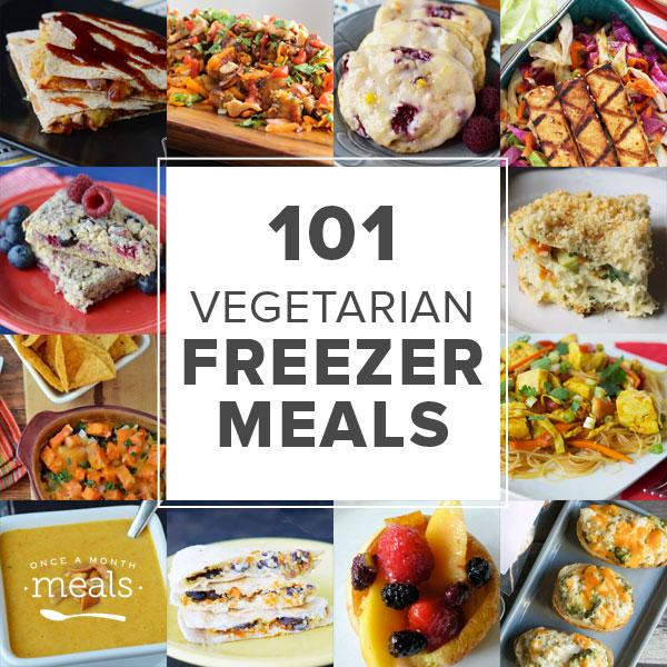 101 vegetarian freezer meals