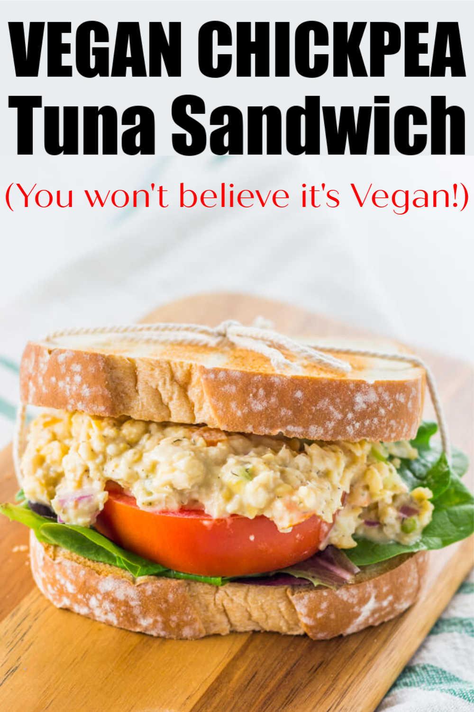 Vegan Chickpea Tuna Salad {WW 1 Purple, 1 Blue, 4 Green, Vegan, Vegetarian, Gluten Free}