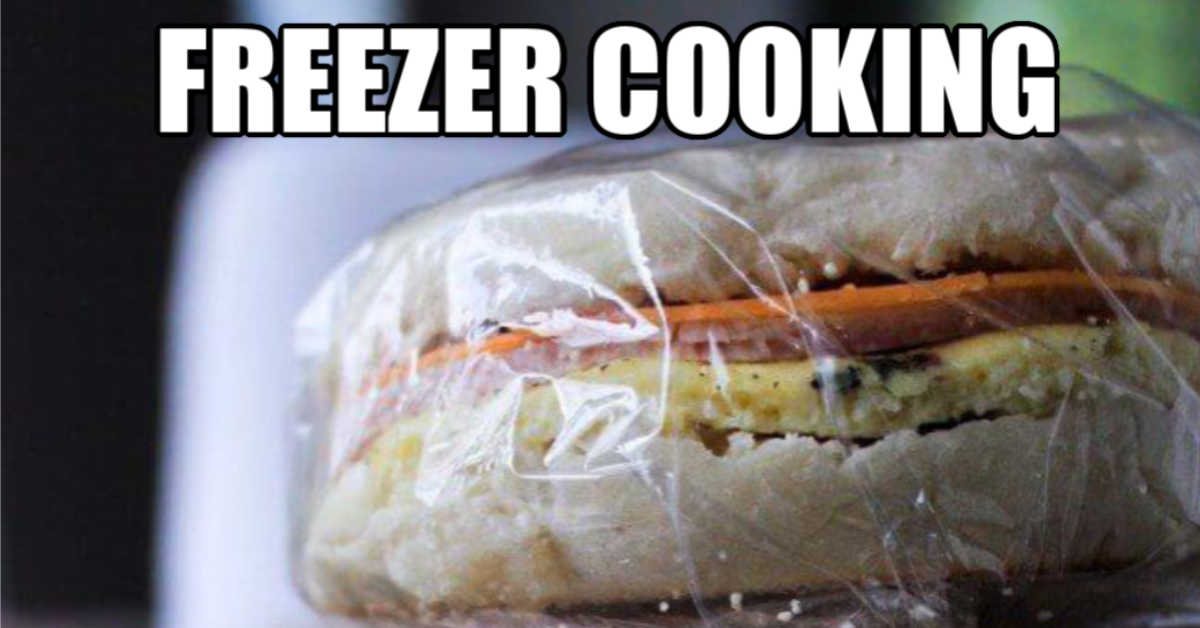 breakfast sandwich made for the freezer