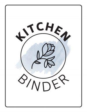 kitchen binder coversheet