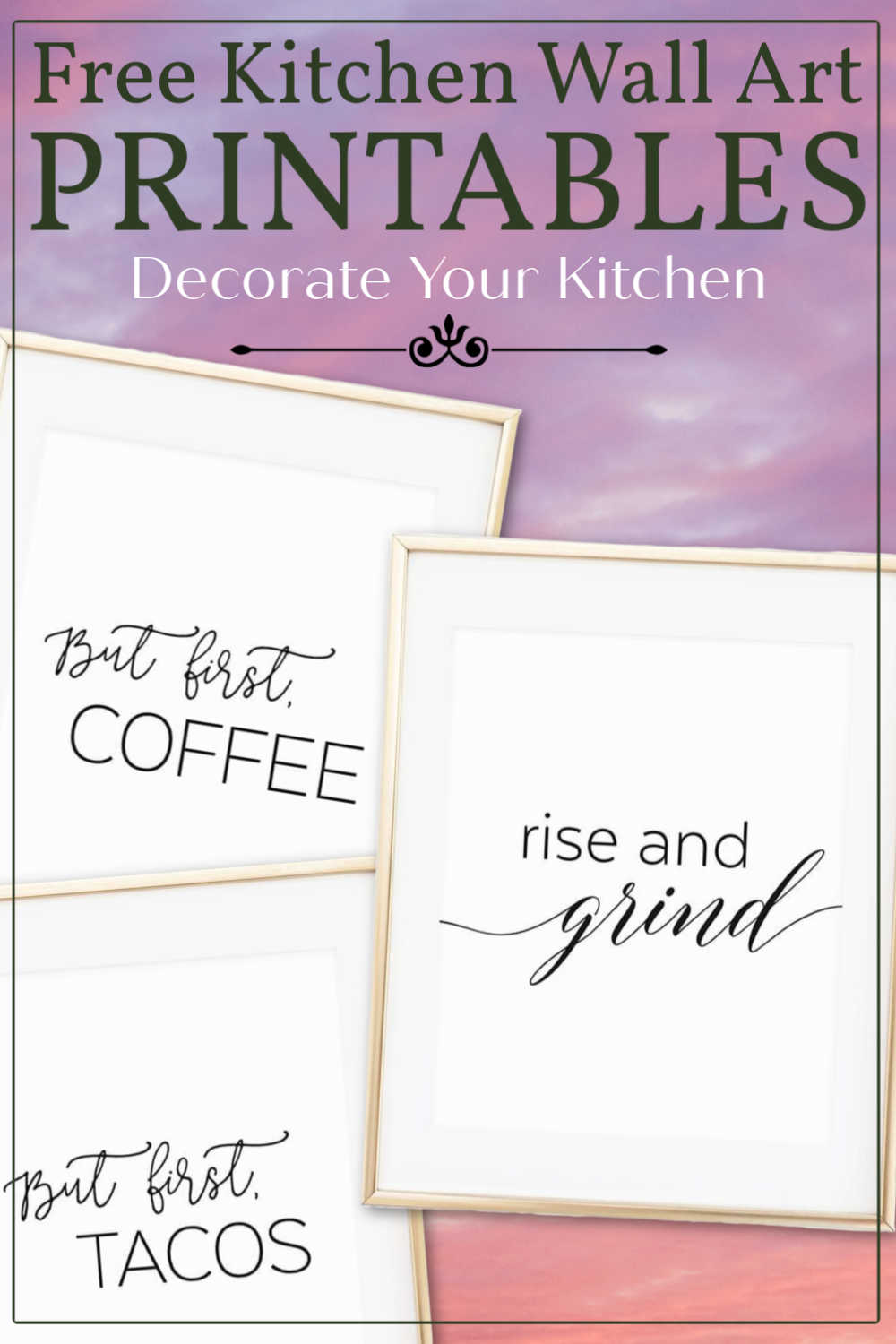 Adorable Black And White Free Printable Kitchen Wall Art