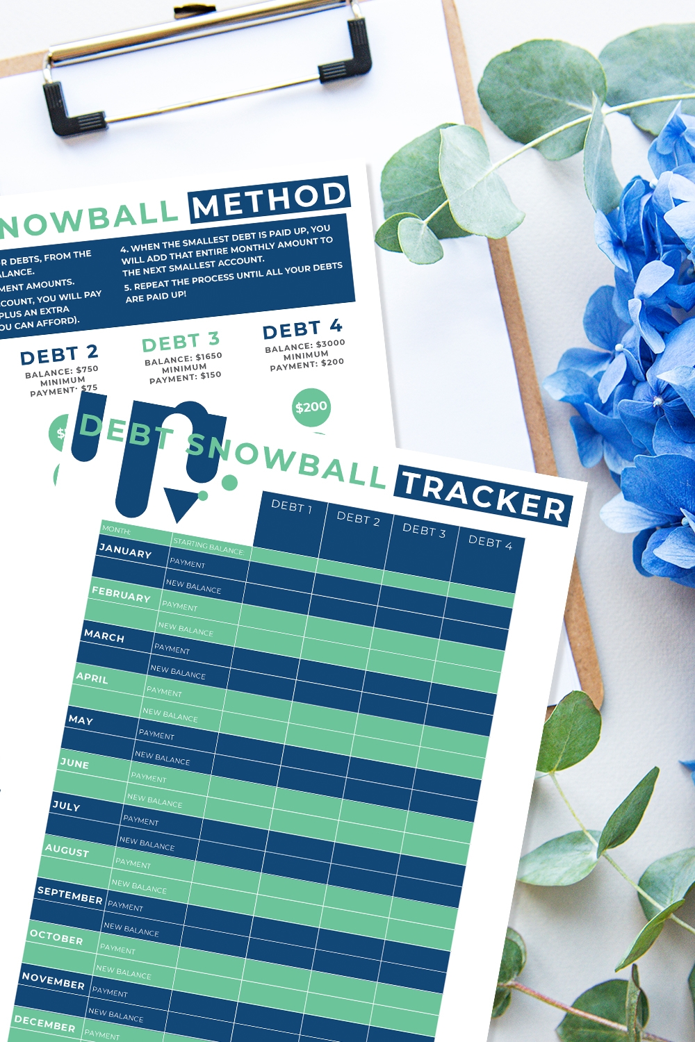 Take Control of Your Family Budget with the Debt Snowball Printable
