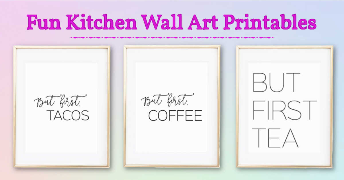 examples of the free wall art for the kitchen
