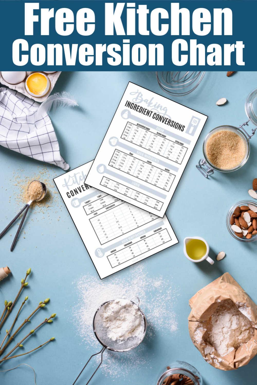 Kitchen Conversion Chart {Free Printable}