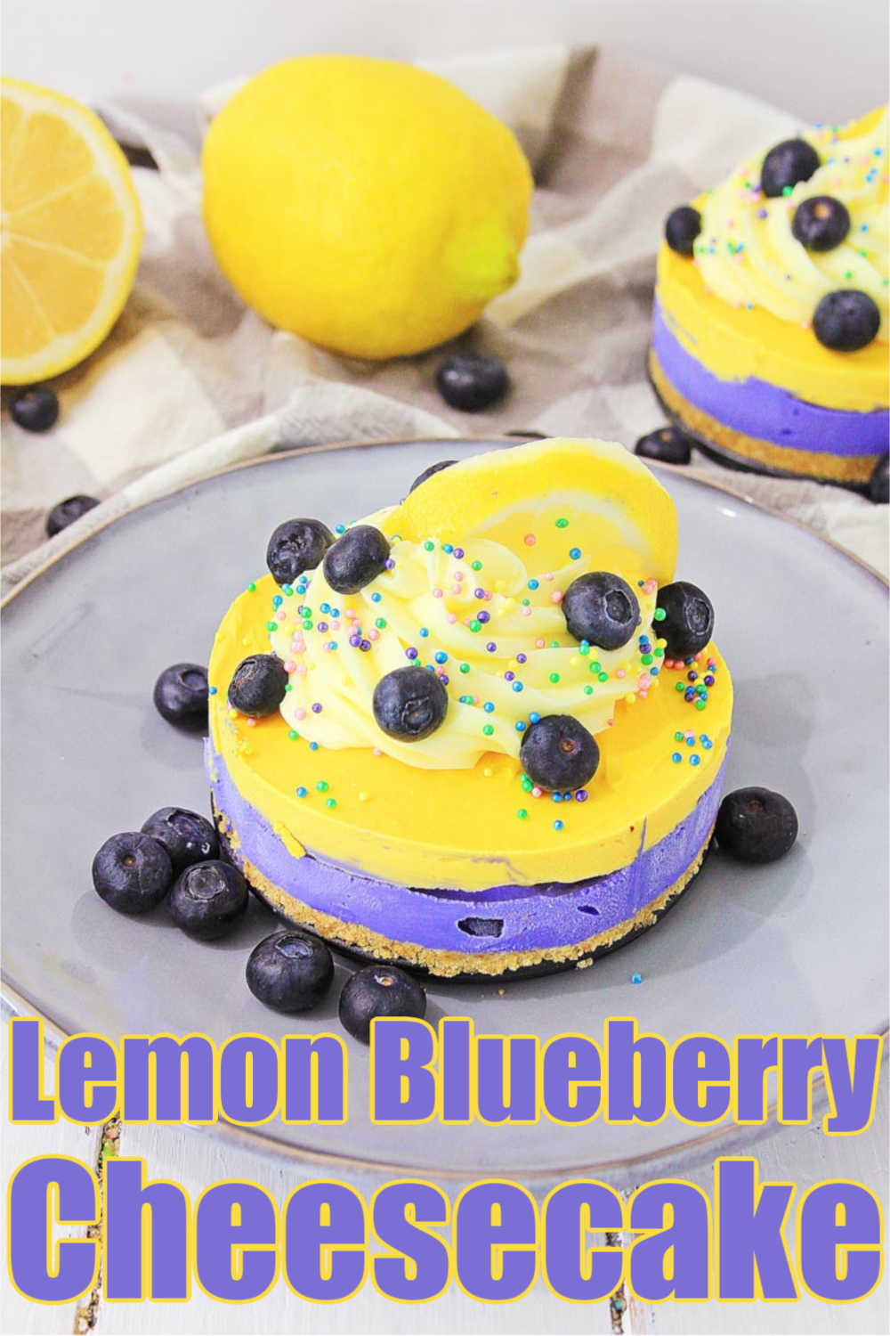 No Bake Lemon Blueberry Cheesecake Recipe