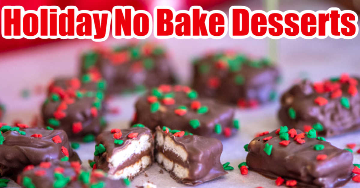 No Bake nutella cracker bites covered in holiday sprinkles