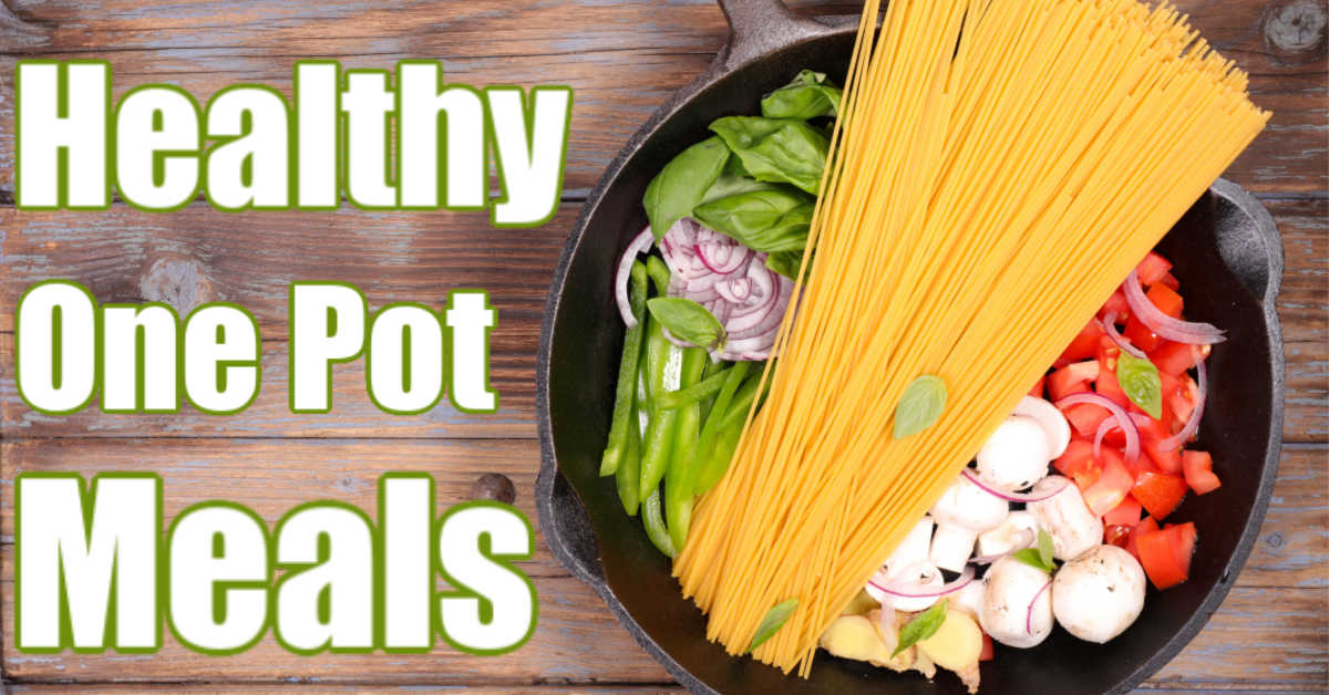 one pot cast iron filled with healthy ingredients