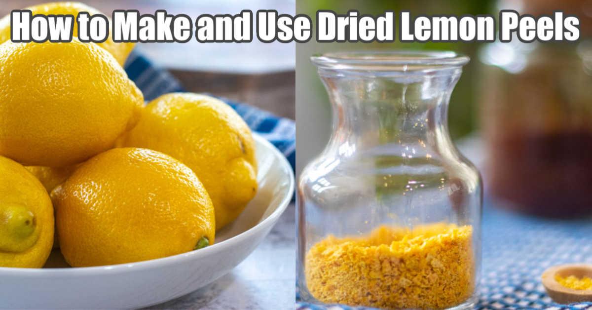turning fresh lemon peels into lemon powder
