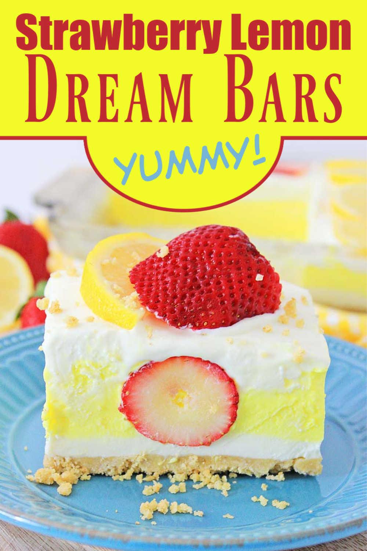 No Bake Strawberry Lemon Dream Bars