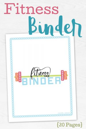 cover sheet of the fitness binder