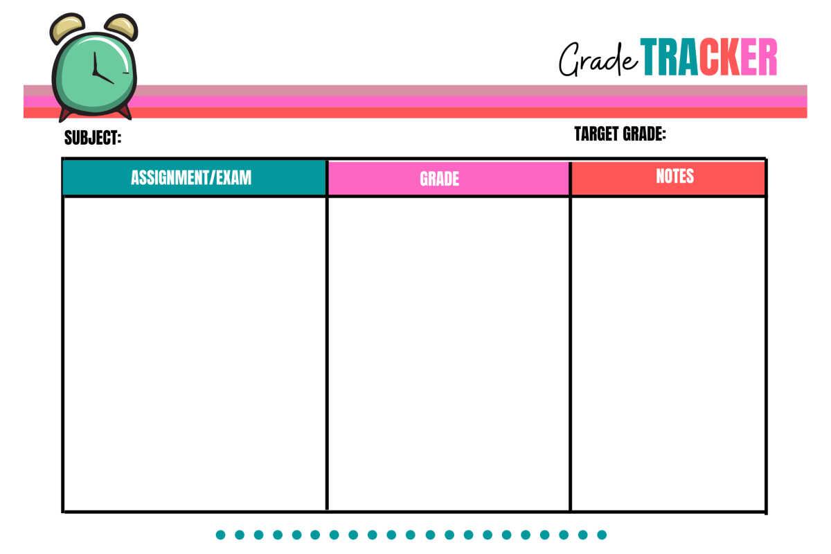 grade tracker printable for homeschool students