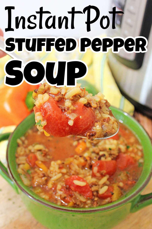 Instant Pot Stuffed Pepper Soup {35 Minutes}