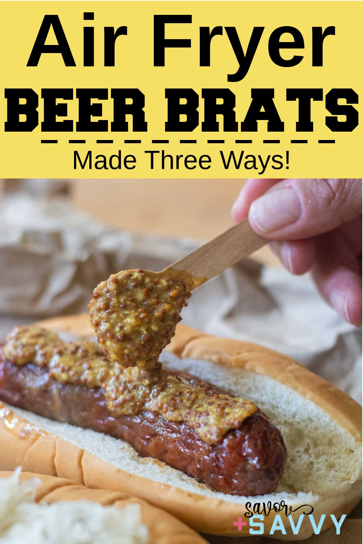Air Fryer Beer Brats {15 Minutes}