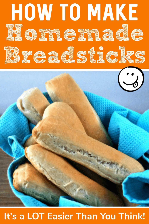 Easy Homemade Breadsticks {5 Minute Prep}