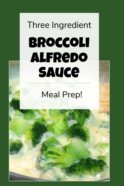 Three Ingredient Broccoli Alfredo Sauce {15 Minutes}
